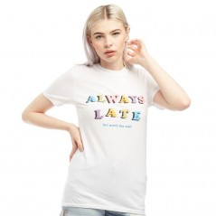 Adolescent Clothing Always Late T-White