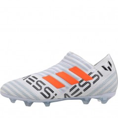 adidas Junior Nemeziz MESSI 17+ 360 Agility FG White/Solar Orange/Clear Grey