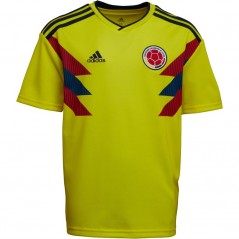 adidas Junior FCF Colombia Home Bright Yellow/Collegiate Navy