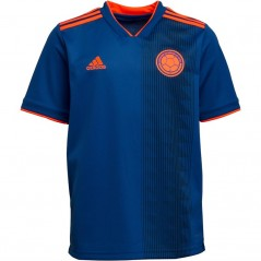 adidas Junior FCF Colombia Away Blue/Solar Red