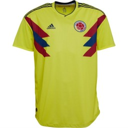adidas FCF Colombia Players Edition Home Jersey Bright Yellow/Collegiate Navy