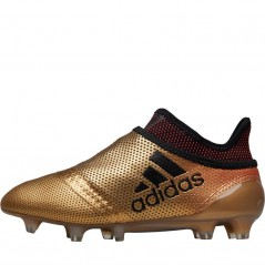 adidas Junior X 17+ Purespeed FG Tactile Gold Metallic/Black/Solar Red