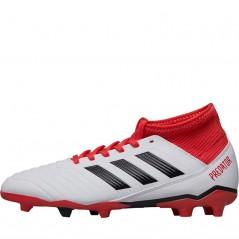 adidas Junior Predator 18.3 FG  White/Black/Real Coral