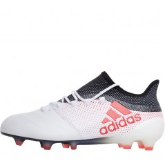 adidas X 17.1 FG Leather  White/Real Coral/Black