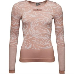 adidas x Stella McCartney Yoga Seamless T-Cinnamon Blush/White