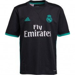 adidas Junior RMCF Real Madrid Away Jersey Black/Aero Reef