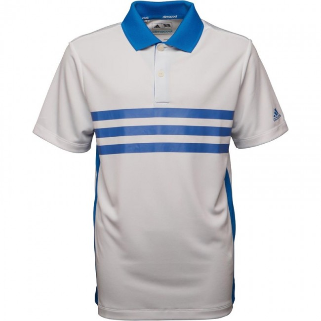 adidas Junior Climacool 3 StMerch Golf Polo White