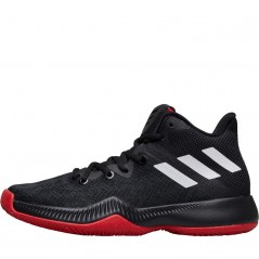 adidas Junior Mad Bounce BasketBlack/ White/Scarlet