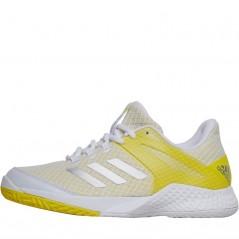 adidas adizero Club All Court Tennis  White/Silver Metallic/Bright Yellow