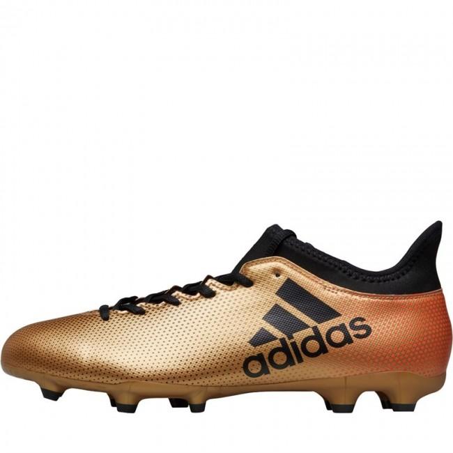 adidas X 17.3 FG Tactile Gold Metallic/Black/Solar Red