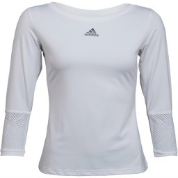 adidas London Line 3/4 Tennis T-White/Night Metallic