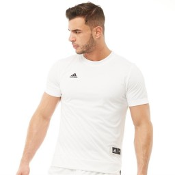 adidas Ekit Shooter BasketJersey White/Black