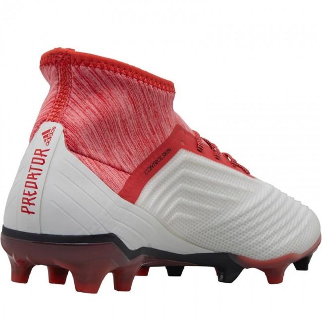 adidas Predator 18.2 FG  White/Black/Real Coral