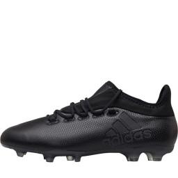 adidas X 17.2 FG Black/Black/Super Cyan