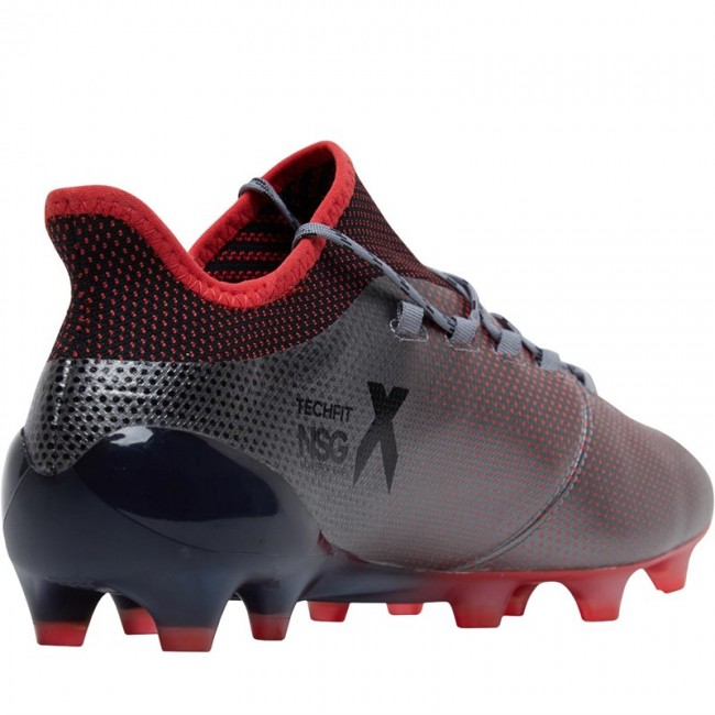 adidas X 17.1 FG Grey/Black/Real Coral