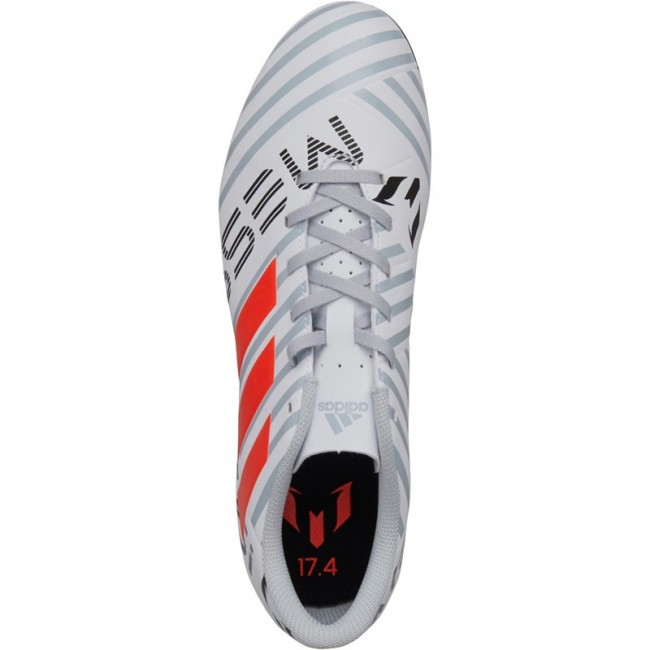 adidas Nemeziz Messi 17.4 FxG  White/Solar Orange/Clear Grey