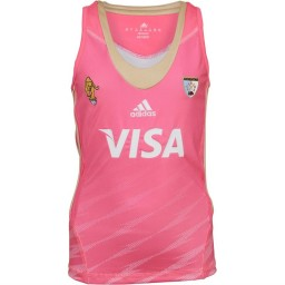 adidas Junior Las Leonas CAH Argentina National Field Hockey Away Jersey Pink