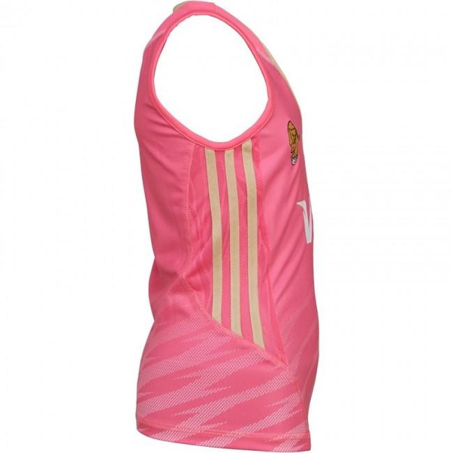 adidas Junior Las Leonas CAH Argentina National Field Hockey Away Jersey Pink