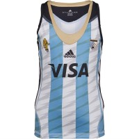 adidas Junior Las Leonas CAH Argentina National Field Hockey Home Jersey Blue/White