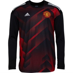 adidas MUFC Manchester United Home Presentation Jersey Real Red/Black
