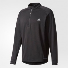 adidas Golf Climaheat Gridded 1/4 Black