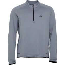 adidas Golf Climaheat Gridded 1/4 Mid Grey