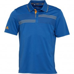 adidas Golf Essentials Textured Polo Trace Royal/Real Gold