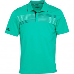 adidas Golf Essentials Textured Polo Hi-Res Green/Collegiate Navy