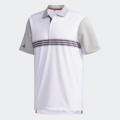 adidas Golf Ultimate365 3 StEngineered Polo White/Grey Two