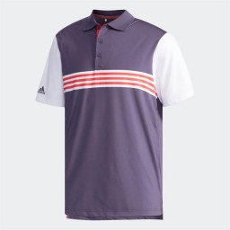 adidas Golf Ultimate365 3 Stripes Polo Trace Purple/White