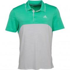 adidas Golf Ultimate365 Heather Polo Hi-Res Green/Aero Green