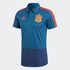 adidas FEF Spain Polo Tribe Blue/Oxford Blue/Red