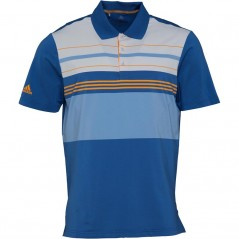 adidas Golf Ultimate365 Engineered Block Polo Trace Royal/Real Gold