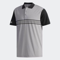 adidas Golf Ultimate365 3 Stripes Polo Grey Three/Black