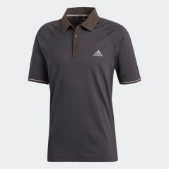 adidas Golf Climacool Athletic Raglan Polo Carbon