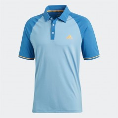 adidas Golf Climacool Athletic Raglan Polo Ash Blue/Trace Royal
