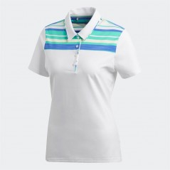 adidas Golf Ultimate365 Polo White/Hi-Res Green