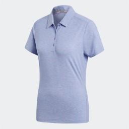 adidas Golf Essentials 3 Stripes Polo Chalk Purple/Chalk Coral