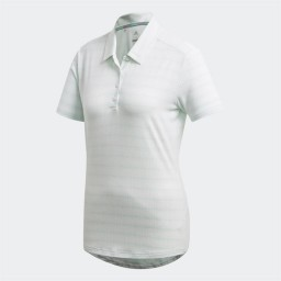 adidas Essentials 3-Stripes Golf Polo White/Hi-Res Green