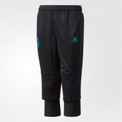 adidas Junior RMCF Real Madrid Three Quarter Black/Solid Grey