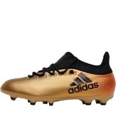 adidas Junior X 17.1 FG Tactile Gold Metallic/Black/Solar Red