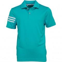 adidas Junior 3 Stripes Golf Polo Energy Blue
