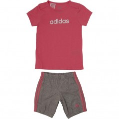 adidas Baby Summer Easy T-And Set Chalk Pink/White