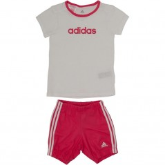 adidas Baby Summer Easy T-And Set White/Chalk Pink