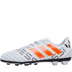 adidas Junior Nemeziz Messi 17.4 FxG White/Orange/Clear Grey