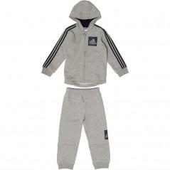 adidas Baby 3 StJogger Set Medium Grey Heather/Navy