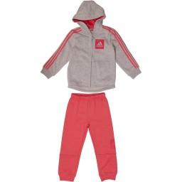 adidas Baby 3 StJogger Set Light Grey Heather/Chalk Pink/Real Pink