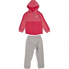 adidas Baby Linear Jogger Set Chalk Pink/Real Pink/White