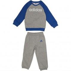 adidas Baby Linear Jogger Set Medium Grey Heather/Blue/White
