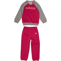 adidas Baby Linear Jogger Set Real Magenta/Medium Grey Heather/Haze Coral